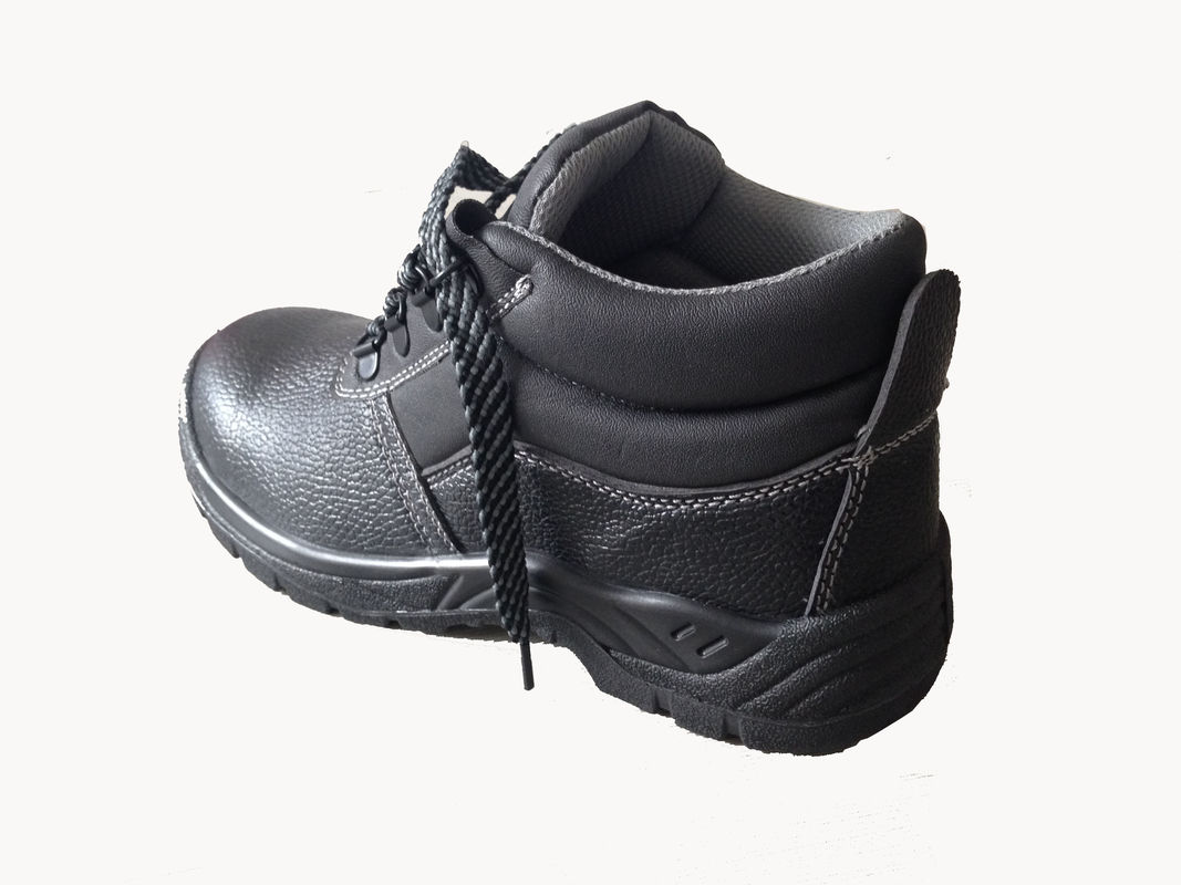 Slip Resistant Shoes / Non Slip Work Shoes With Black Real Leather Upper